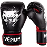 Venum Kinder Contender Boxhandschuhe, Schwarz/Rot, 8 oz