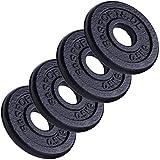 ScSPORTS 2 kg Hantelscheiben-Set 4 x 0,5 kg Gusseisen Gewichte mit 30/31 mm Bohrung - ideal für...