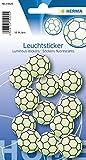 Herma 15025 Leuchtsticker (Fussball, ablösbar & wieder verwendbar, für Kinder)