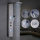 OBEEONR Thermostat Duschpaneel Duschset Edelstahl Duschsystem mit handbrause und Regendusche...