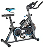 Indoor Cycle Indoorcycling mit Pulsmessung Fitnessbike Speed Bike Computer Schwungrad 18 kg...