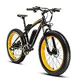 Cyrusher® Extrbici XF660 48V 500 Watt Gelb Schwarz Mans Elektro Fahrrad Mountain Bike 7 Geschwindigkeiten Elektro Fahrrad Scheibenbremsen