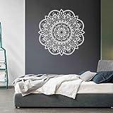 Ouneed Wandaufkleber Wandtattoo Wandsticker , Mandala Blume Indische Schlafzimmer Wohnzimmer...