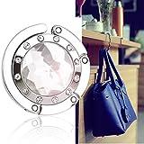 Bingsale® Taschenhalter Grau Crystal (klar) mit magnetischer Gliederhalterung - Taschenhaken &...