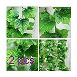 A-goo 2x Künstliche Kunstpflanze Pflanze Girlande Busch Ranke Pflanze Hänger