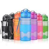Grsta Trinkflasche BPA frei für Kinder, 400ml/14oz - Auslaufsicher Tritan Kunststoff...