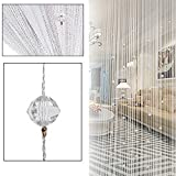 HTOYES Dekorativer Fadenvorhang mit Perlen, Wandvorhang, Schaufensterdekoration, Raumteiler, für...