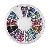 Fashion Galerie Nageldesign Nagel DIY Dekoration 2mm Nagel Kunst 3D Glitter Strasssteine(Tropfen)