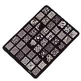 Demarkt Nail Stamping Druckplatte Maniküre-Nagel-Kunst-Dekor-Bild Briefmarken Platten