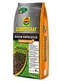 COMPO SAAT® Rasen-Reparatur Komplett Mix+, Rasenpflege mit Doppelnutzen, schließt Rasenlücken und regeneriert ausgedünnte Flächen, 4 kg für bis zu 20 m²