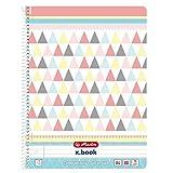 50009930 Spiralblock 'Graphic Pastels' Mix, A4, 80 Blatt (liniert mit Rand)