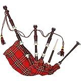 vidaXL Schottischer Großer Dudelsack Set Hochland Highland Bagpipe Bag Pipe Mittelalter