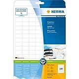 Herma 4333 Universal-Etiketten (25,4 x 10 mm auf DIN A4 Premium Papier matt) 4.725 Stück auf 25 Blatt, weiß, bedruckbar, selbstklebend