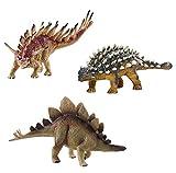 deAO Dinosaurier-Figuren Realistische Prähistorischen Spielfiguren SET (Kentrosaurus, Ankylosaurus...