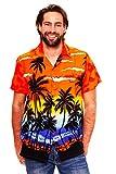 Funky Hawaiihemd, Beach, Orange, L