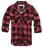 BRANDIT Check Shirt Red-Black 4XL
