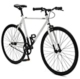 Critical Cycles Harper Single-Speed Fixed-Gear Urban Commuter Bike, Weiß/Schwarz, 49 cm, small