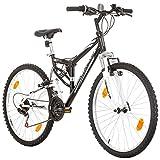 26 Zoll CoollooK EXTREME Fahrrad Fully Full Suspension Mountainbike MTB, Rahmen 43 cm, 18-GANG...