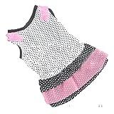 Loveso-Haustier Kleider Bekleidung Mode-Hündchen-Prinzessin-Kleid Hund Dot Rock-Haustier-Hundekleid (S, B)