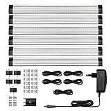 LE 6er LED Unterbauleuchte Schrankleuchte, 12V DC, insgesamt 1800lm, LED Schrankbeleuchtung mit...