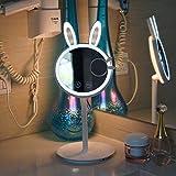 Make-up-Spiegel mit LED Beleuchtung 7-fache Vergrößerung 180 °Schwenkbar 6 Beleuchtung Model für Zuhause und Unterwegs von WEINAS