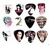 Gitarrenplektren, berühmte Albumcover, 12 Stück, Typ B