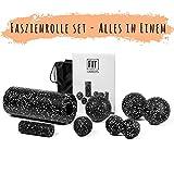 Starter-Set 7-Tlg - Faszienrolle klein und groß, Duoball 8 und 12 cm, Faszienball 8 und 12 cm -...
