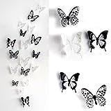 Haimoburg 36er-Set 3D Schmetterling Aufkleber Wandsticker Wandtattoo Wanddeko für Wohnung,...