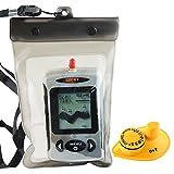 Lucky FFW-718 Wireless wasserdicht Portable Sonar Fish Finder mit Punkt Matrix 40m Reichweite...