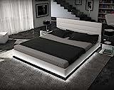 Ripani Designerbett exklusive-line 180x200cm *modern living* integr. LED-Beleuchtung