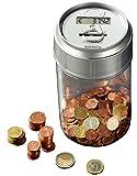 PEARL Spardose mit Zählwerk: Spardose mit elektronischem Münzzähler (Spardose mit Zähler)
