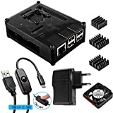 Für Raspberry Pi 3 Gehäuse mit Netzteil + Lüfter + 3x Aluminium Kühlkörper + Mikro-USB-Kabel...