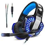 Gaming Headset Kopfhörer Gamer mit Mikrofon Micolindun für PC, PS4, Xbox one, Laptop, Tablet, Mac,...