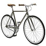 Critical Cycles Harper Fixed Gear Urban Commuter Pewter Single Speed Bike, Birch, 53cm