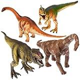 Prextex 13' (33cm) Realistischer Dinosaurier Satz mit 4 großen Dinosaurier Figuren aus Kunststoff