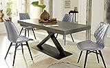 Altacom Esstisch Gorizia | Tisch | Küchentisch | Schiefer Optik | 180 cm x 90 cm | ausziehbar...