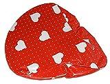 Sattelschutz für das Fahrrad - Herzen liebe rot (SSS (Ca.24x18cm))