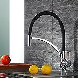 Homelody Schwarz Wasserhahn Küche Armatur 360° drehbar Küchenarmatur Spüle Mischbatterie...