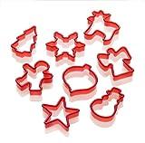 Lurch 10520 Ausstechformen Weihnachten 8-Teilig rot