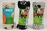 3er Pack Haustierdecke 70x70cm Haustier Decken 3 farbig sortiert für Hunde und Katzen Fleecedecke Hundedecke Katzendecke
