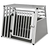 Hundebox Hundetransportbox Transportbox Alubox Aluminium Alu Box 1 Türig Reisebox Gitterbox Silber...