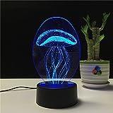LED-Fernbedienung Farbe Nachtlichter USB wiederaufladbare 3D visuelle kreative Lampe...