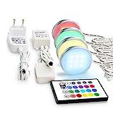 Deckenleuchten Leuchten, Vitrinenbeleuchtung LED Schrankleuchten SMD5050 Unterbauleuchte RGB...