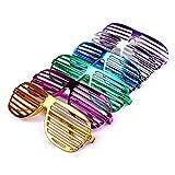 S/O 6er Pack Partybrille metallic 6 Farben Partybrillen Bunt Gitterbrille Spaß Spass Brille Atzen...