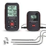 Inkbird IRF-2S Funk Thermometer Bratenthermometer Smoker mit 2 Temperaturfühlern für Fleisch Kochen von BBQ, Ofen, Raucher, Backen, Griller bis zu 300M