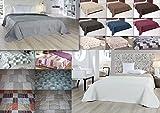 MB Warenhandel24 XXL Tagesdecke Allzweckdecke ca. 220x240 cm Patchwork Landhaus Sofa Bettüberwurf...