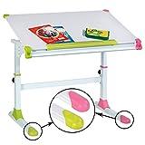 CARO-Möbel Kinderschreibtisch Schülerschreibtisch HELENA höhenverstellbar und neigbar in weiß...