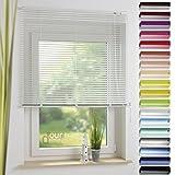 ourdeco Aluminium-Jalousie / Jalousieträger / Klemmträger / Montage am Fenster für Premium...