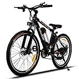 ANCHEER Elektrofahrrad Mountainbike, 26 Zoll E-Bike, 36V Abnehmbarer Rahmen Akku, 250W Hochgeschwind...