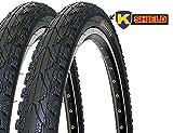 2 x Fahrradreifen Kenda Pannensicher 26 Zoll 26x1.75 47-559 K935 K-Shield inklusive 2 x 26' Schlauch...